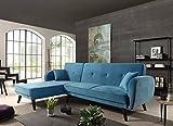 Bestmobilier - Olaf - Canapé d'angle réversible scandinave Convertible revêtement en Velours - 239x85x158cm