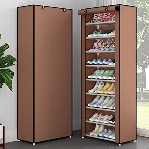 M-YN Zapatero Gabinete de Almacenamiento de Rack de Zapatos de Tela de Lona de 10 Niveles con Cubierta a Prueba de Polvo, Capacidad for hasta 30 Pares de Zapatos, 60 cm * 30 cm * 160 cm (LxWxH)