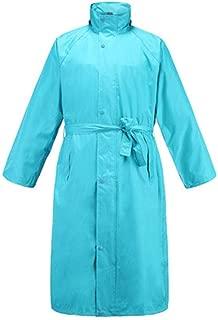Xxadliy Raincoat Outdoor Adult Men and Women Raincoat Casual Windbreaker Raincoat (Color : Lake Blue, Size : S)
