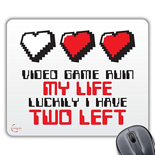 CP007 Video Game geruïneerd mijn leven Gelukkig Ik heb twee Links Nieuwigheid Gift Gedrukt PC Laptop Computer Muis Mat Pad