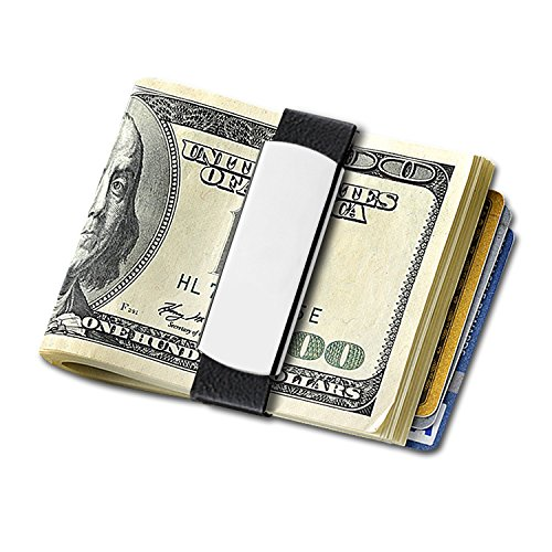 GRAND BAND Engraved Money Band - Large (Stainless Steel), The Rubber Money Band, Minimalist Wallet