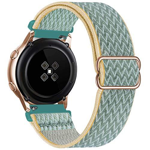 GBPOOT 20mm Armband Kompatibel mit Samsung Galaxy Watch Active 2(40mm/44mm)/Watch 3 41mm/Watch 42mm/Gear S2,Einstellbares Nylon Armbänder Weiche Sport Ersatzband,Sunshine,20mm