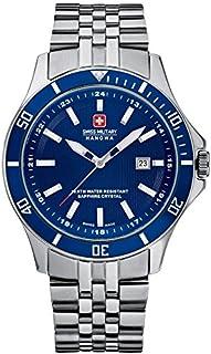 Swiss Military Hanowa - 06-5161.7.04.003 - Reloj analógico de Cuarzo para Hombre, Correa de Acero Inoxidable Color Plateado
