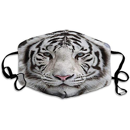AEreiy Ly Mascarilla de Tigre Blanco Cubierta de Boca a Prueba de Vien