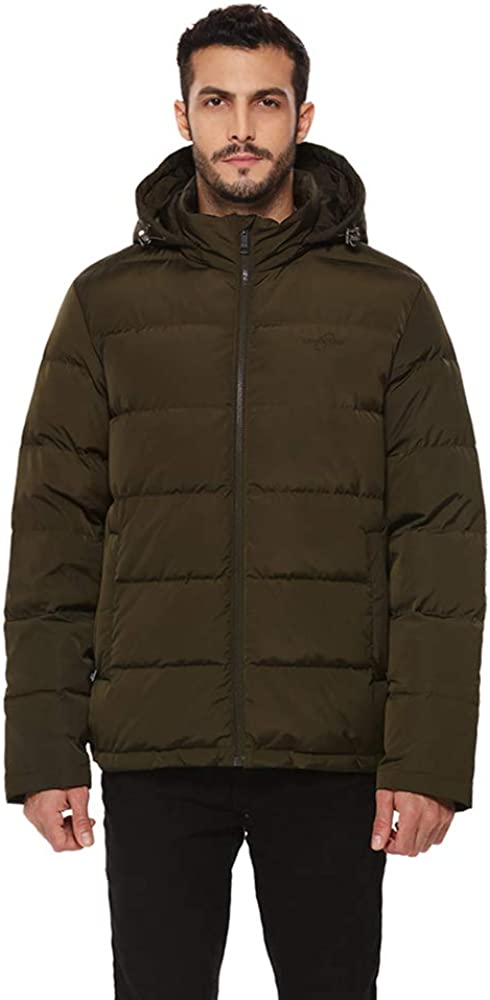 universo Men's Max 86% OFF Heavy Duty Sales for sale Insulated Down Ano Parka Jacket Winter