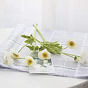 Artificial and Dried Flower 2pcs/lot Artificial Flowers Silk Poppy Flowers for Wedding Decoration Fake Flowers Poppy Flower for DIY Home Room Garden Decor
