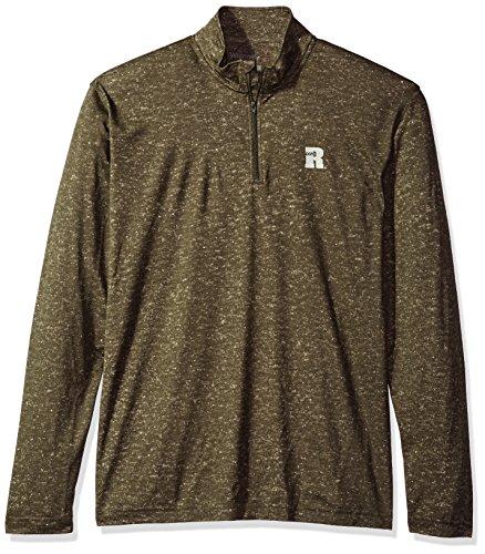 Wrangler Herren Riggs Workwear 1/4 Zip Performance Pullover Hemd, Olive Heather, XX-Large