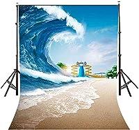HD 5x7ft巨大な海の波背景轟音巨大な波災害テーマ写真撮影の背景写真スタジオの背景小道具LYNAN387