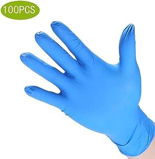 ニトリル手袋ビニール手袋100 |ニトリル手袋4.3ミル厚、パウダーフリー、非滅菌、ヘビーデューティ使い捨て手袋| Jewelry-stores.co.uk医療、医療、食品の取り扱いのためのプロフェッショナルグレード (Color : Blue, Size : M)