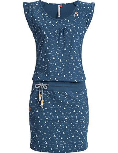 Ragwear Damen Baumwoll Jersey Kleid Sommerkleid Strandkleid Penelope Denim Blue20 Gr. S