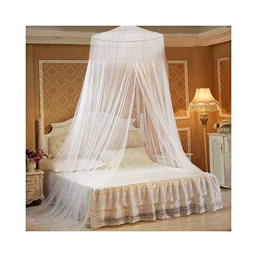 XHCtent Moskitonetz Doppelbett Mückennetz Fliegennetz Baldachin Schützt Vor Insekten Malaria Insektenschutz Mit Armbänder, EIN Aufhängekit, Weiß