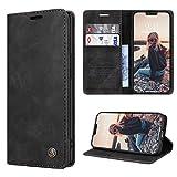 RuiPower Funda para iPhone 12 Mini con Tapa Funda para iPhone 12 Mini Libro Fundas de Cuero PU Premium Magnético Tarjetero y Suporte Silicona Carcasa para iPhone 12 Mini (5.4'') - Negro