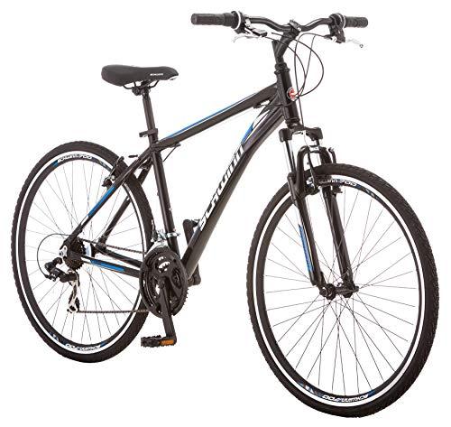 Schwinn GTX 1.0 Comfort Adult Hybrid Bike, Dual Sport Bicycle, 20-Inch Aluminum Frame, Black