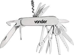 Canivete Multiuso Vonder, em Aço Inox, 14 Lâminas, Acompanha Estojo