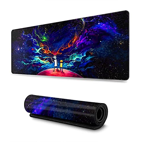 Gaming Anime Mouse Pad uitable for Desktop Computer Desk Mat, Computer Keyboard, Pc and Laptop 11.8x31.5 in C