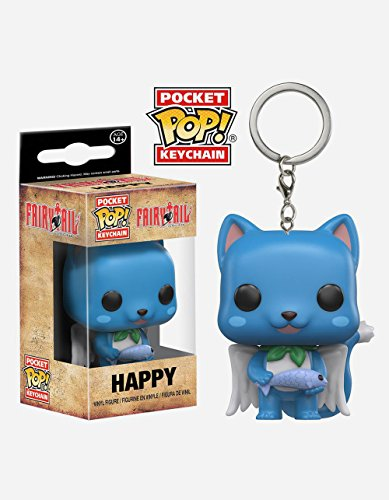 Funko 11728-PDQ Schlüsselanhänger Figur Fairy Tail: Happy