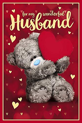 HUSBAND Me to You 3D-Hologramm-Geburtstagskarte mit Bärenmotiv