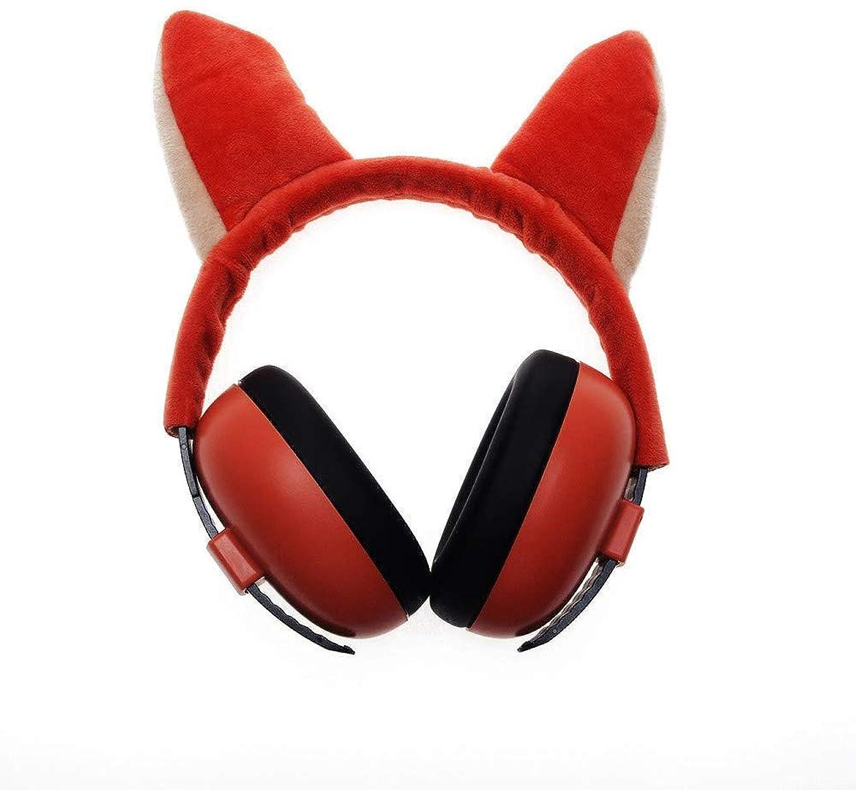 壊滅的なシャッタースリルヘッドホン 子供専門のイヤープロテクターに適した折りたたみ式ヘッドバンドのイヤーマフを保護安全イヤーマフ聴覚保護イヤーマフ聴覚 (Color : Orange, Size : -)