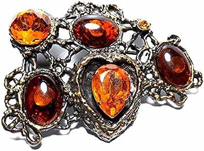 artigianale Hebilla para cinturón de 4 cm, piedras topacio, color bronce, hebillas de metal o piedras o brillantes o esmaltes o cristales muranos y 1 llavero de 1 cm