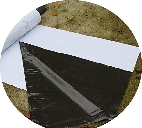 Jehaplast Silofolie schwarz/weiß 150 µm Grundpreis 0,60 €/m² (8 m x 6 m)