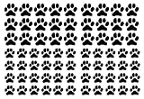 71 Dog Paws Wall Decals (27 2.2 inch Paws Wall Decals and 44 1.5 inch paw Print Decals for Walls) Vinyl Paw Print Stickers Animal Footprint Wall Art Decoration Animal Tracks Decor