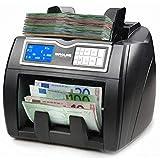 EUROLINE - Compteuse de billets - Valorisatrice PRO billets mélangés - Détection faux billets 100% Testé BCE