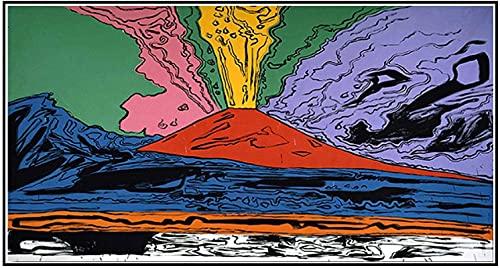 SXXRZA Póster Obras de Arte 60x120cm Sin Marco Andy Warhol Vesubio Lienzo Abstracto Arte de la Pared Póster e impresión Imagen Decorativa para la decoración del hogar del Dormitorio