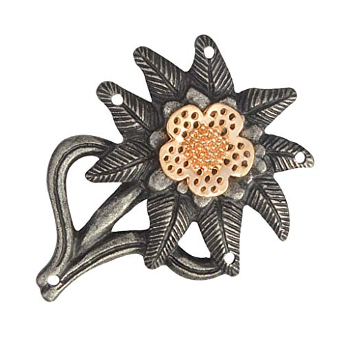 Colcolo Plated Alloy Edelweiss Flower Pin Badge Brooch Jewellery Clothing Ornament