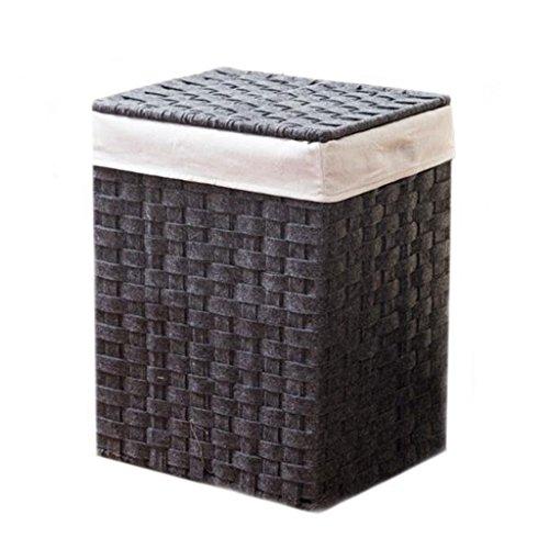 Wasmand Hamper with deksel Toy storage basket Stof/Weefsel grote opbergmand Vilt wasmand