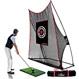 GALILEO Golf Practice Net Golf Hitting Nets Driving Range Golf Training Aids with Target Carry Bag 10x8x3FT(with Hitting Mat)
