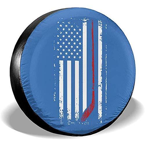 Dem Boswell Reserveradhüllen American Flag Hockeyschläger Wasserdicht Staubgeschützter Sonnenschutz Universal Radhülle Universal Fit 14 Zoll