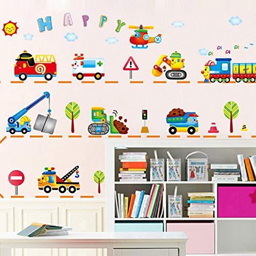 Sticker mural Carton Animaux Train Amovible Enfants Baby Art Decor