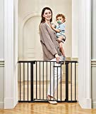 ONE-HANDED ACCESS: The baby gate designed with a one-touch release easy slide handle safety lock. A secure spring-loaded latch keeping gate safely closed when not in use. Easy one-handed open and close operation,Fit with extension parts 10cm,20cm,30c...