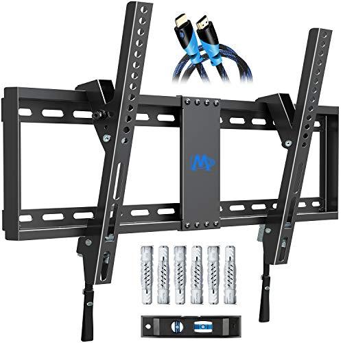 Mounting Dream TV Wandhalterung Neigbar TV Halterung für die meisten 37-70 Zoll LED, LCD, OLED und Plasma TVs bis zu VESA 600x400mm und 60kg, inklusive HDMI-Kabel, MD2268-LK-02