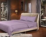 Tache 3 Piece Solid Light Lavender Lilac Purple Duvet Set, King