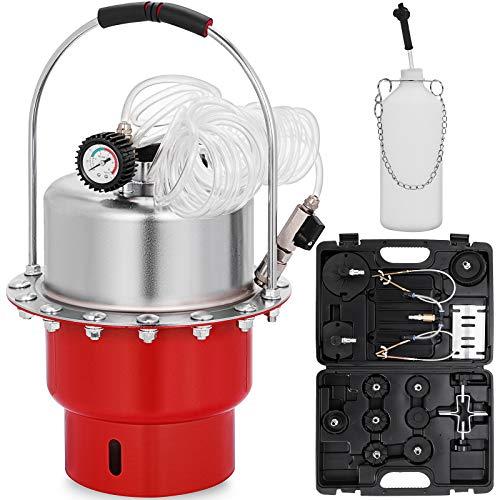 Mophorn Purgeur Liquide de Frein 5 L, Purgeur de Frein Automatique en Acier, Kit Purgeur de Frein et d'Embrayage Pression d'air 0-10 Bar, avec Manomètre Précis