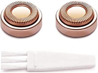 YOOVE Facial Hair Remover Replacement Heads Compatible with YOOVE Facial Hair Removal Tool for Women, Rose Gold - 2 Count