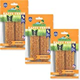 Happy Teeth Natural Cheese Dog Chews | Peanut Butter Flavor | Dental Chew | Protein Rich | Gluten Free - Lactose Free - Wheat Free - Soy Free| 2 Chews per Resealable Pouch | 3 Pouches per Pack