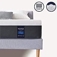 Inofia King Memory Foam and Sprung Mattress 11.4Inch, Mattress with Advanced Ventilated Mesh Side Co...