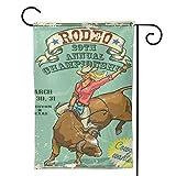 TGSCBN Rodeo Cowgirl Corrida Poster Vintage Bandiera Giardino Verticale a Doppia Faccia Cortile Esterno Veranda Patio Fattoria Prato Decorazione,
