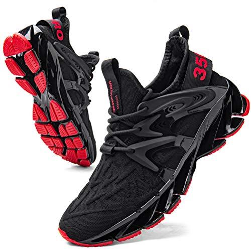 Herren Laufschuhe straßenlaufschuhe Hohe Sneaker Sportschuhe Atmungsaktiv Anti-Rutsche Gym Schuhe