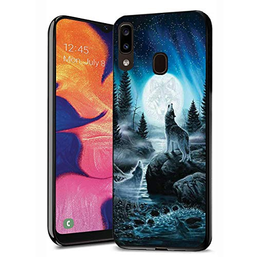 Galaxy A20 Case, Galaxy A30 Case, Premium TPU Ultra Thin Flexible Shock Absorbent Silicone Rubber Protective Cover for Samsung Galaxy A20 (2019) / A30 (2019) - Roaring Wolf