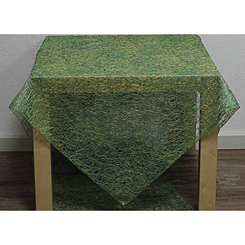 Hossner Tischdecke, Mitteldecke Trento in Netzoptik 90x90cm grün