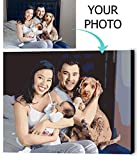 VATO Photo to Custom DIY Paint by Numbers for Adults,Your Own Private Picture Personalized Customized PBN, No Frame (16