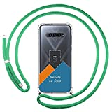 Personaliza tu Funda Colgante Transparente para Xiaomi Black Shark 4 5G con Cordon Verde Agua Dibujo Personalizada
