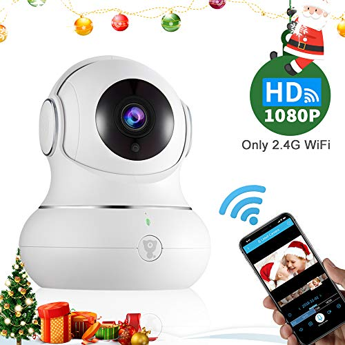 Littlelf Überwachungskamera 720P HD WLAN IP Kamera für Innen Wlan Handy Home WiFi Nachtsicht Kamera mit 3D Panorama und Deutscher App/Anleitung, Unterstützt Fernalarm,Bewegungserkennung,2-Wege-Audio