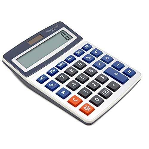 OFFIDIX Basic Office Calculators,Solar and Battery Dual Power Electronic Calculator Portable Large LCD Display Calculator Big Numbers Desktop Calculator (Big Size)