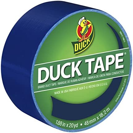 Single Roll 1.88 Inches x 20 Yards Duck 1304959 Color Duct Tape Blue 2 Pack
