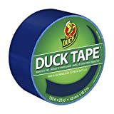 Duck 1304959 Color Duct Tape Single Roll, 1.88 Inches x 20 Yards, Blue