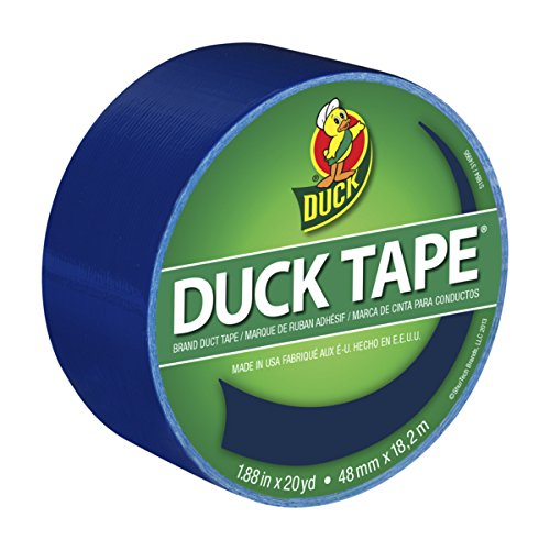 Duck 1304959 Color Duct Tape Blue, 1.88 Inches x 20 Yards, Single Roll, 1